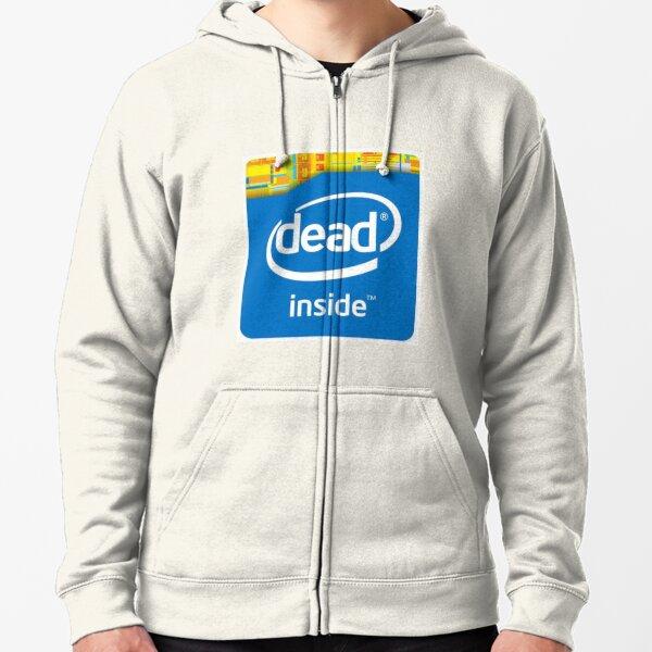 Intel Dead Inside Meme Veste zippée à capuche