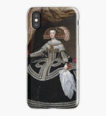Queen Doña Mariana of Austria 1652 - 1653 Diego Velázquez iPhone Case/Skin