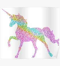 Sparkly Rainbow Unicorn Poster