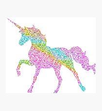 Sparkly Rainbow Unicorn Photographic Print