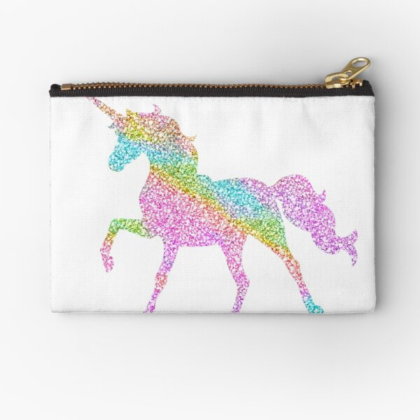 Sparkly Rainbow Unicorn Zipper Pouch