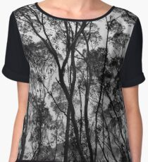 Forest Silhouette Chiffon Top