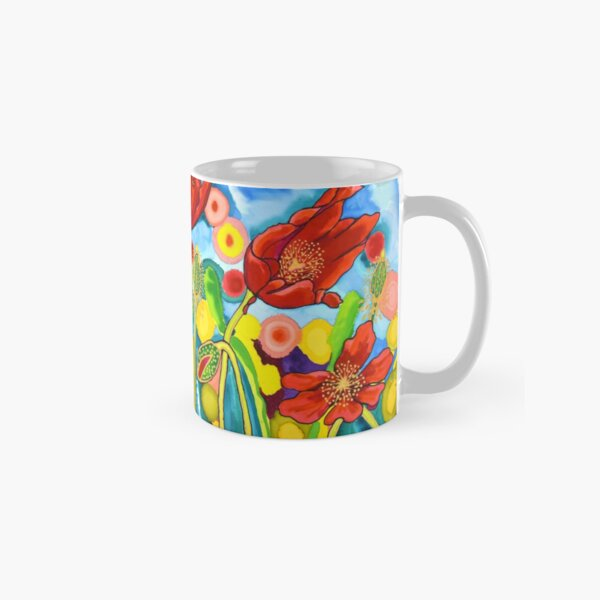 Red Poppies #3 Belize Classic Mug