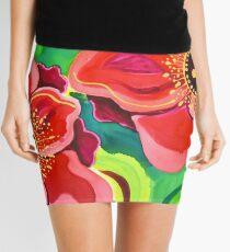 Red Poppies #2 Mini Skirt