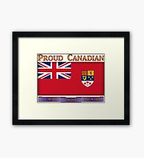 Canadian 1964 Canada Flag cup phone case etc Framed Print