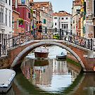 One of Many Bridges in Venice by Steve Boyko