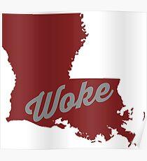 Woke Louisiana - red Poster