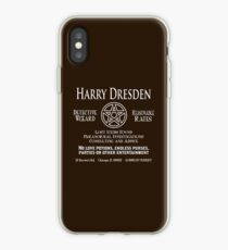 Vinilo o funda para iPhone Harry Dresden - Detective mago