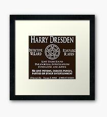 Harry Dresden - Wizard Detective Framed Print