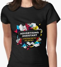 ADVERTISING ASSISTANT Women's Fitted T-Shirt