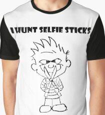 Calvin Hunts Selfie Sticks Graphic T-Shirt