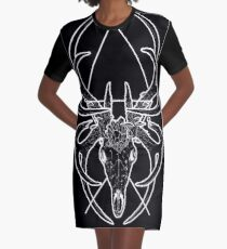 Broken Symmetry - The Stag Sigil Graphic T-Shirt Dress