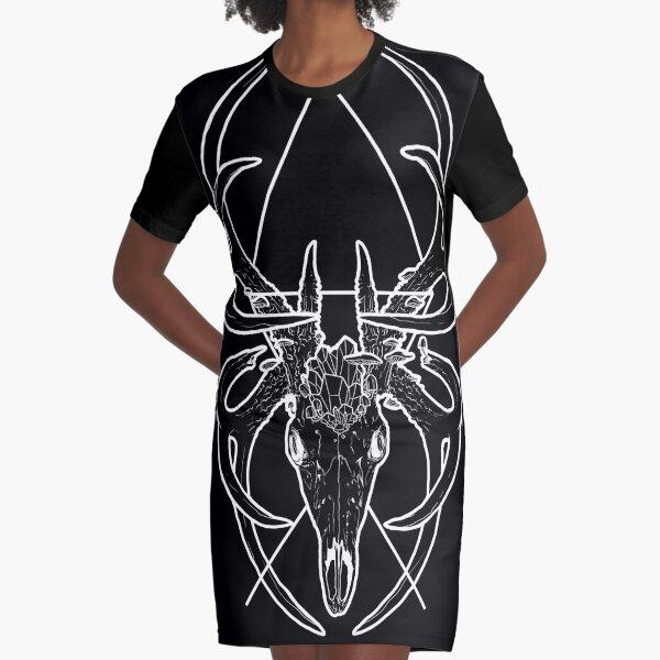 Broken Symmetry - The Stag Sigil Graphic T-Shirt Dress