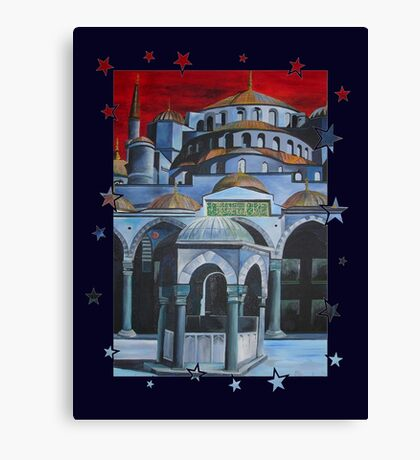 Sultan Ahmed Blue Mosque in Istanbul Turkey Canvas Print