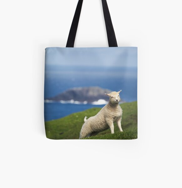 Yoda Sheep I am All Over Print Tote Bag