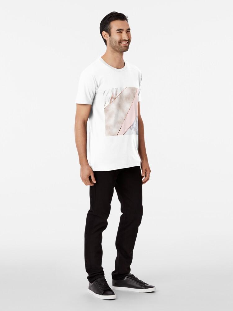 Alternative Ansicht von Gespleisst gemischter Roségoldmarmor Premium T-Shirt