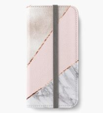 Spliced mixed rose gold marble iPhone Wallet/Case/Skin