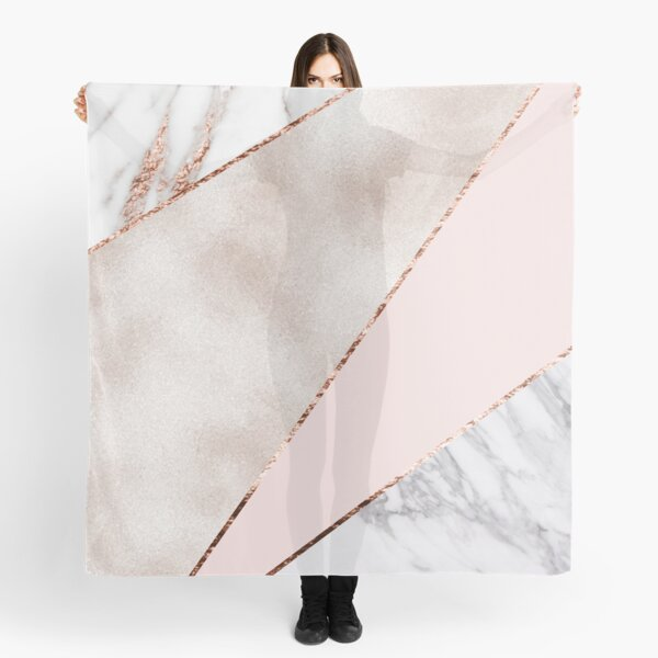 Spliced mixed rose gold marble Scarf