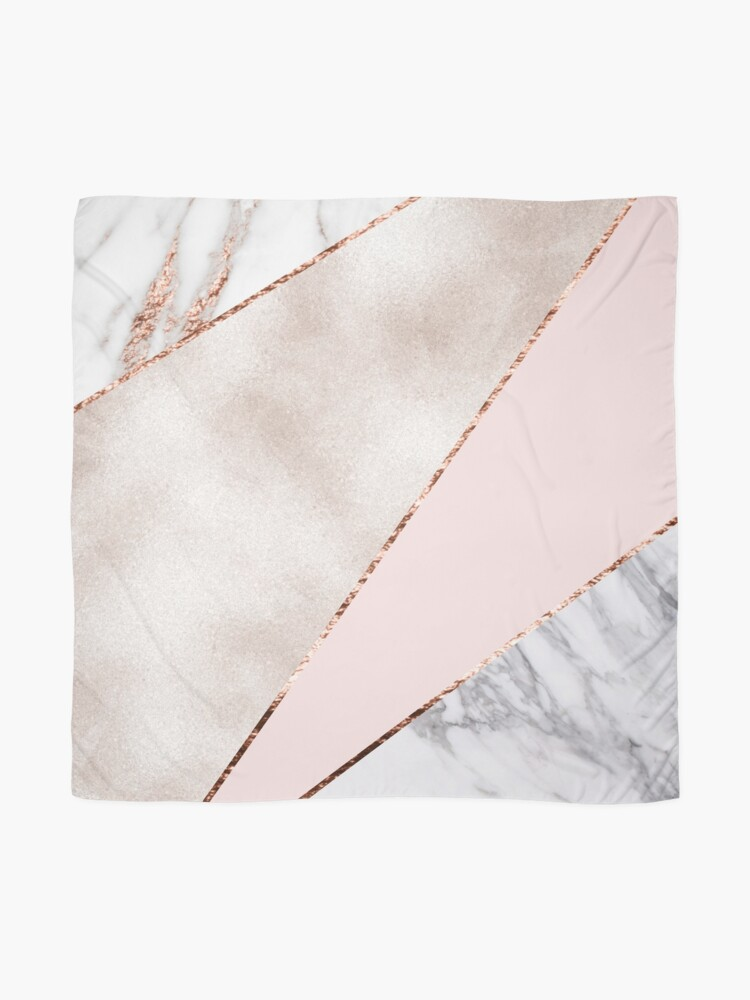 Alternate view of Spliced mixed rose gold marble Scarf
