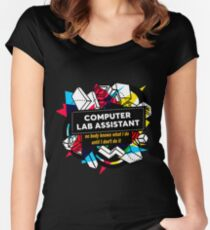 COMPUTER LAB ASSISTANT Women's Fitted Scoop T-Shirt