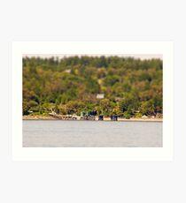 Vashon Island Ferry Pier Art Print