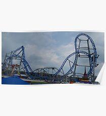The Galeforce Roller Coaster Skyline Poster