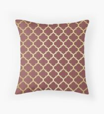 Burgundy Moroccan dreams Throw Pillow