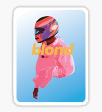 Blond Nascar Sticker