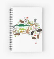 Australian animal map  Spiral Notebook