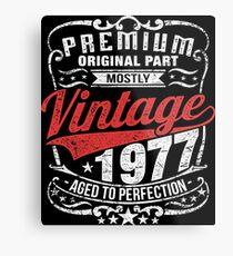 Vintage Premium 1977 Edition - 40th Birthday Gift Metal Print