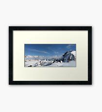 Mont Blanc Glacier Framed Print