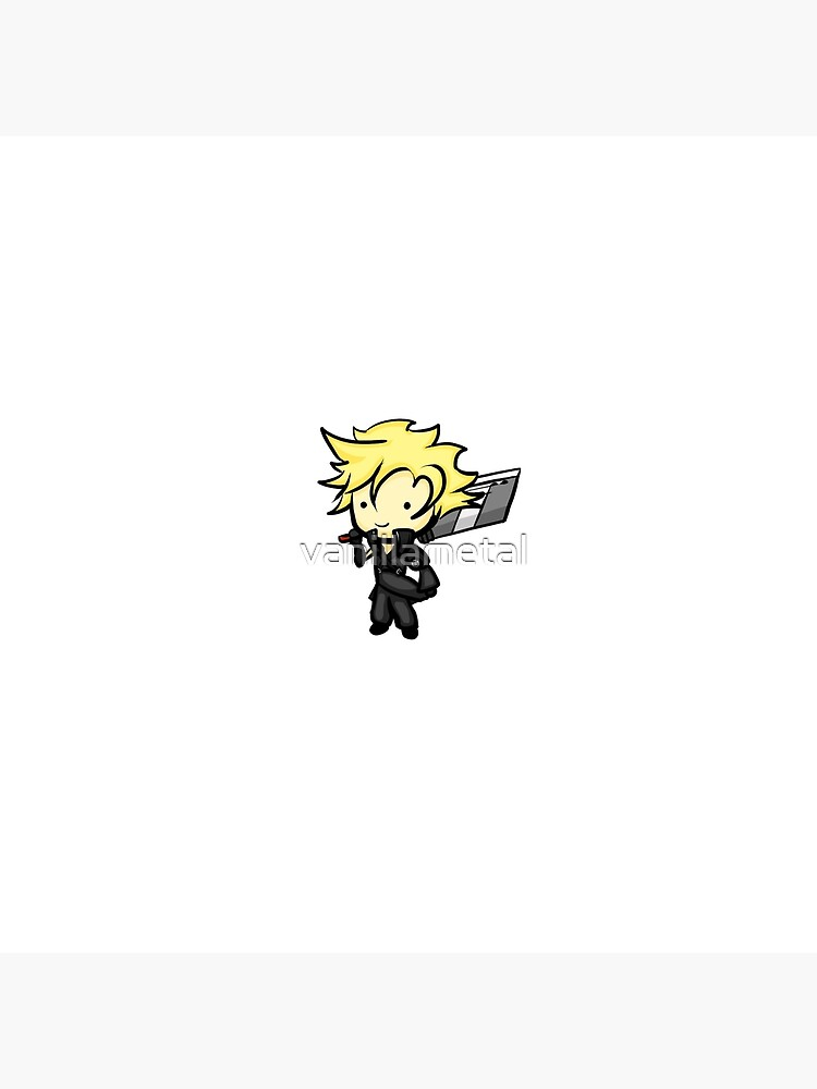 Cloud Strife Chibi Final Fantasy 7 Vii Advent Children Art