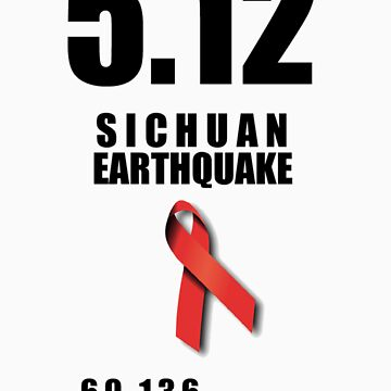 Sichuan Earthquake Relief Ribbon by icaretees