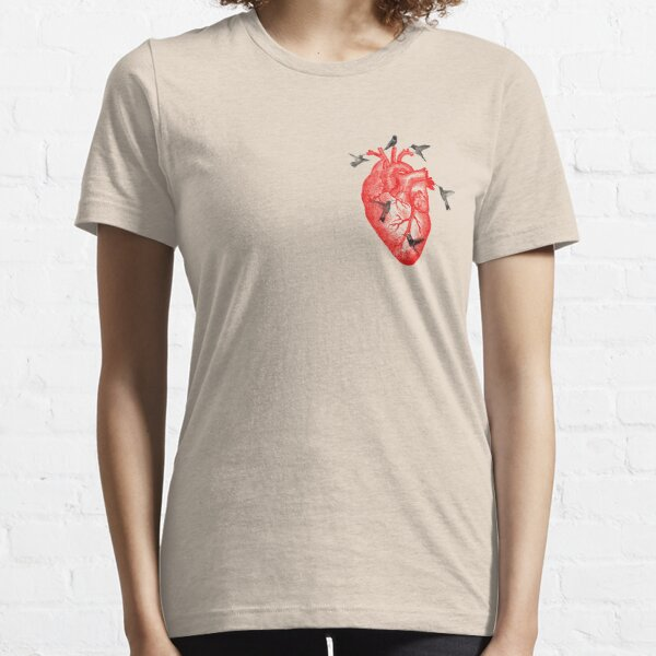 Anatomical Heart and Hummingbirds Essential T-Shirt