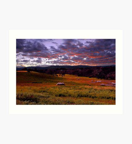 Farmland Sunrise  Art Print