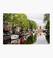 Castle reflection in the canal Photographic Print