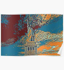 Statue Of Liberty Usa Travel Poster Poster