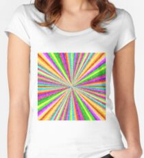 Psychedelic Vortex Women's Fitted Scoop T-Shirt
