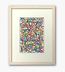2108 - Happy Color Dreams Framed Print