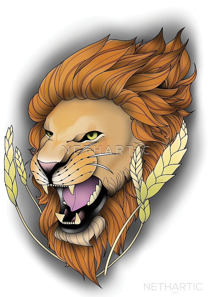 Neotraditional Lion by N E T H A R T I C