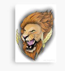Neotraditional Lion Metal Print