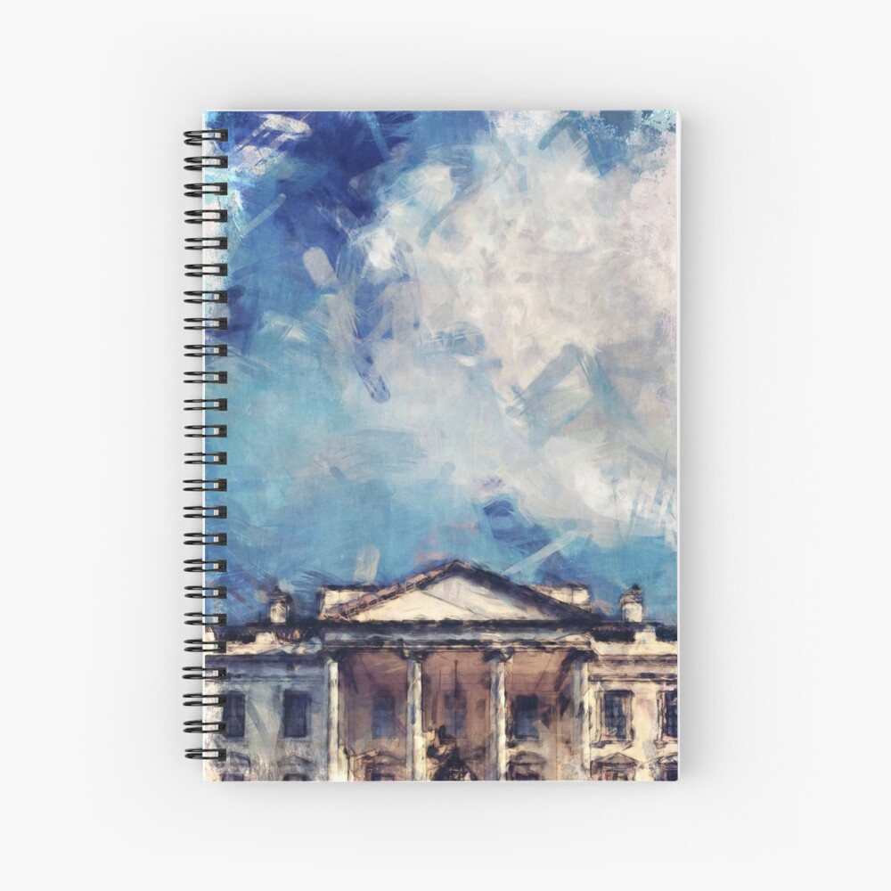 White House On A Sunny Day Spiral Notebook