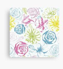 Elegance floral background Canvas Print