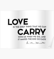 love, carry - louisa may alcott Poster