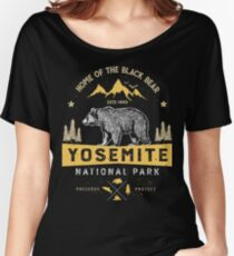 Yosemite National Park California T shirt - Vintage Bear Women's Relaxed Fit T-Shirt