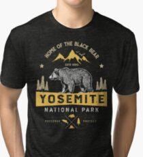Yosemite National Park California T shirt - Vintage Bear Tri-blend T-Shirt