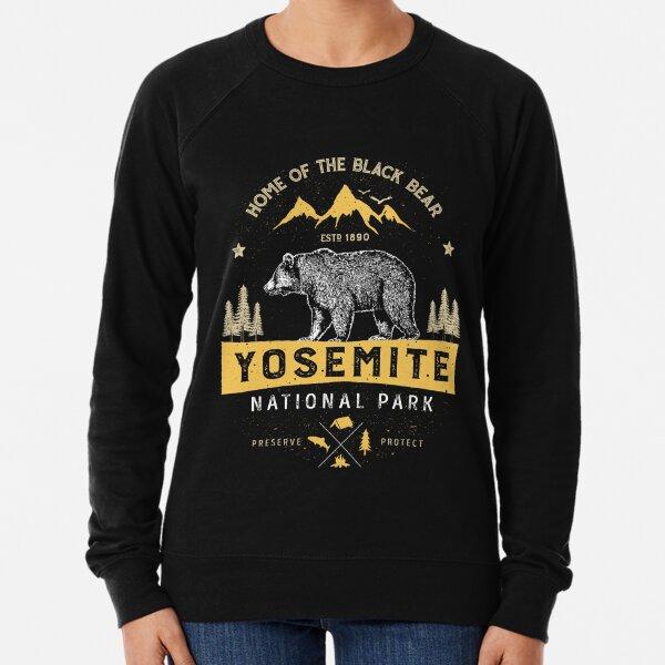 Yosemite National Park California T shirt - Vintage Bear Lightweight Sweatshirt