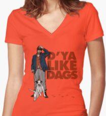 D'Ya Like Dags? Women's Fitted V-Neck T-Shirt