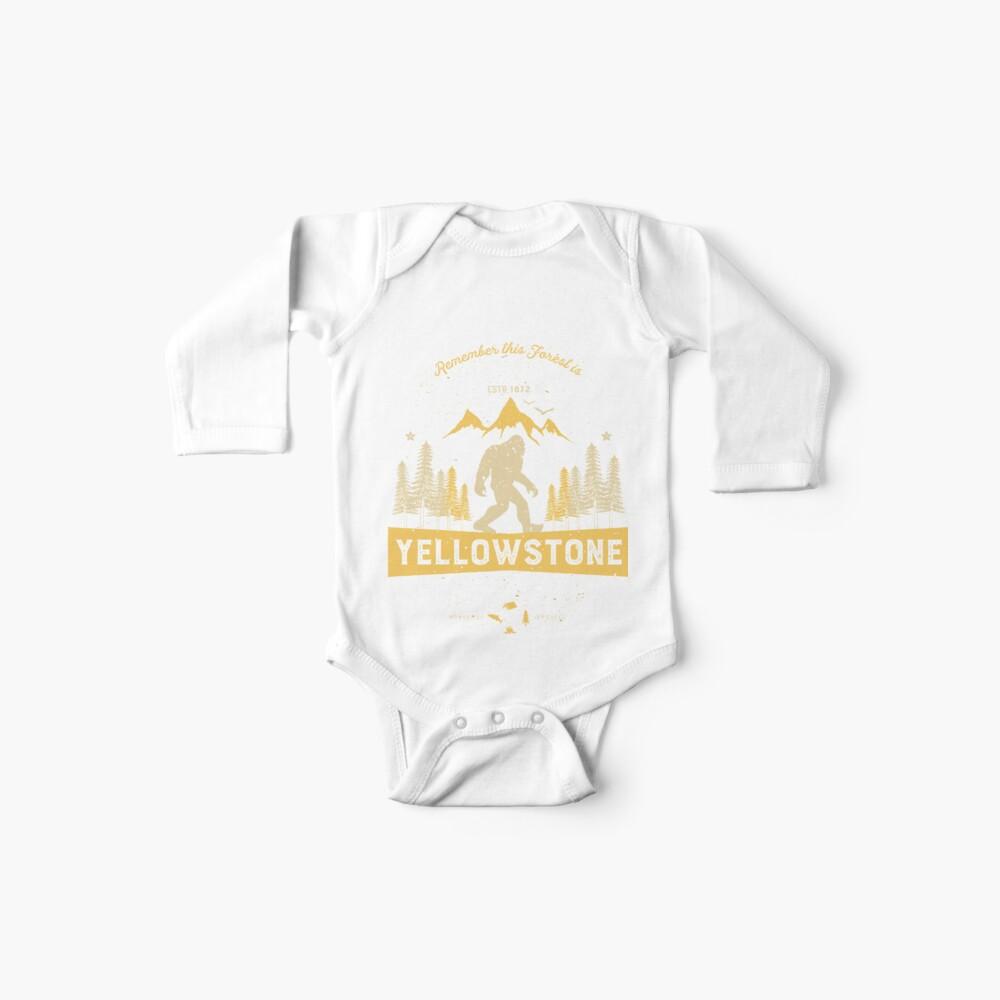 Yellowstone Nationalpark Vintage Bigfoot T-Shirt Männer Frauen Baby Bodys