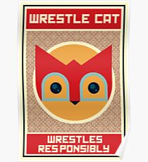 Wrestle Cat  Poster